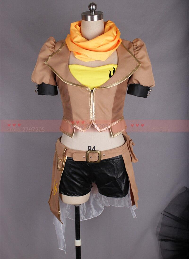 RWBY yang xiao long cosplay costume Halloween Cosplay Uniform dress free shipping custom made
