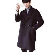 YJSFG 집 남성 새로운 윈드 Woolcoat 긴 재킷 겨울 신사 비즈니스 외투 트렌치 두꺼운 방풍 코트 따뜻한 파카
