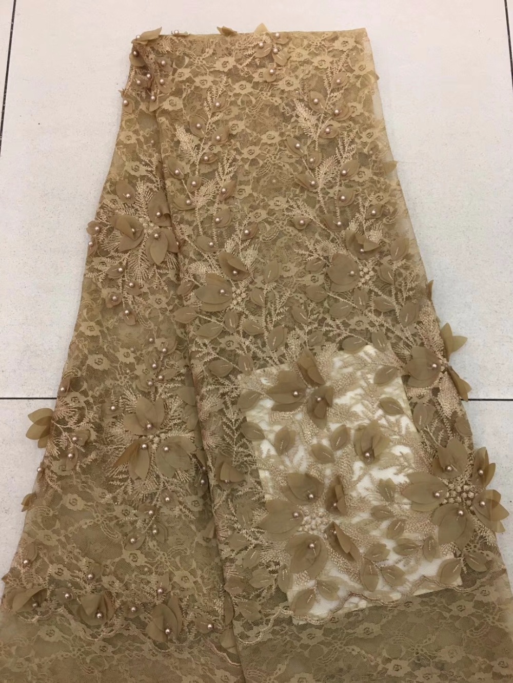 Pearls African Lace Fabric, Chiffon Tulle Lace Fabric, Latest Wedding Dresses Nigeria Lace 2018Pearls African Lace Fabric, Chiffon Tulle Lace Fabric, Latest Wedding Dresses Nigeria Lace 2018