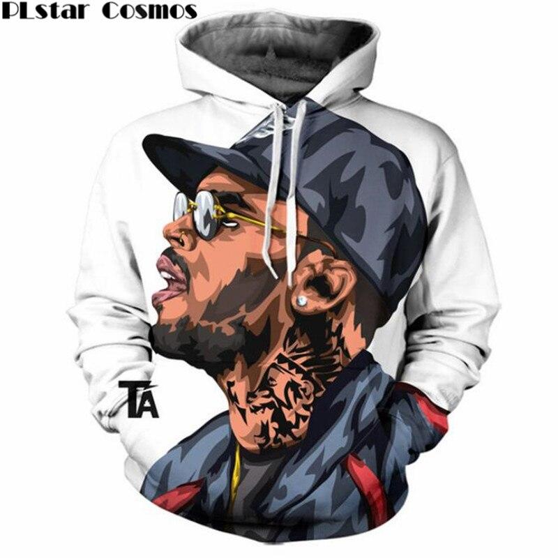 PLstar Cosmos fashion jumper Chris Brown 3D Print Hoody women/men Hoodie hip hop Clothing tops plus size 4XL 5XL Drop shipping
