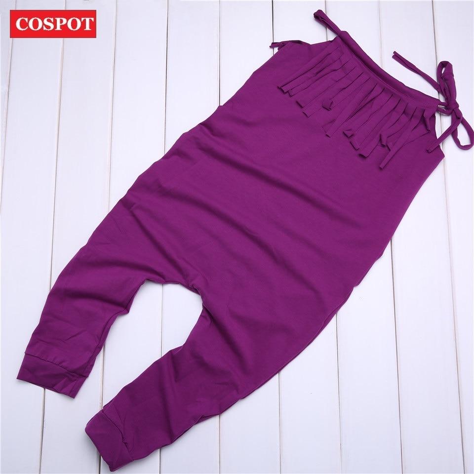 COSPOT Girls Summer Long Jumpsuit Toddler Girl Boho Tassels Romper Girl Bubble Playsuit Baby Girl Clothes Plain Purple Gray 35