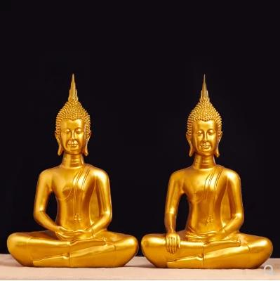 Golden Buddha Crafts, Thai Southeast Asian Style Ornaments, Religious Articles