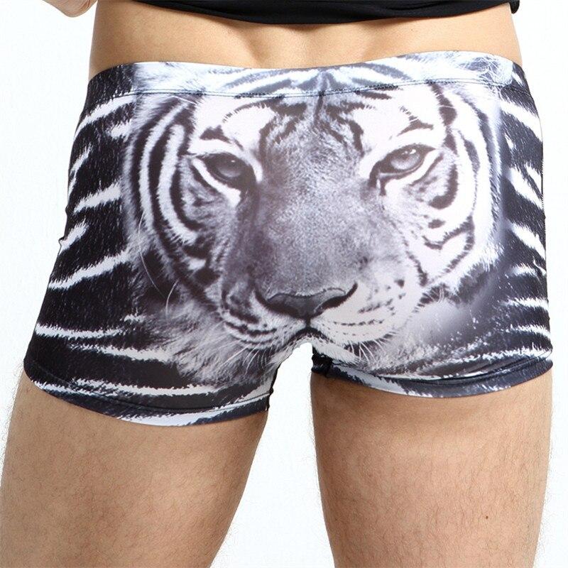 Ice Silk Breathable Underwear Man Boxers Tiger