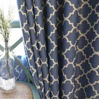 Занавески для гостиной, столовой, спальни, 2 цвета, с принтом в виде американских деревень, минималистичные, европейский стиль, Затемненные з...