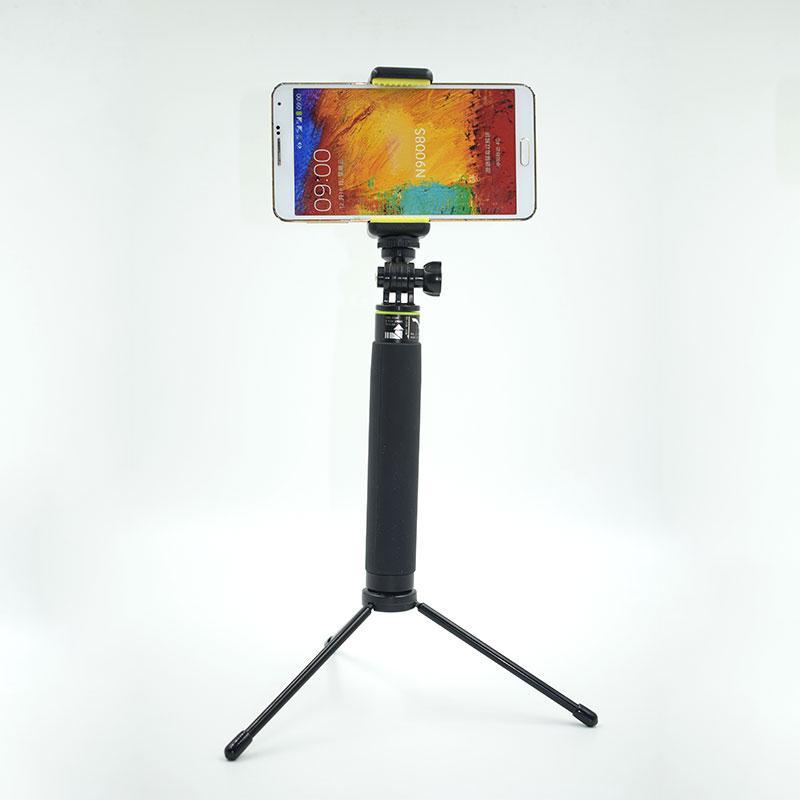 Universal Portable Adjustable Zinc Alloy Camera Phone Stand Clip Bracket Tripod Monopod