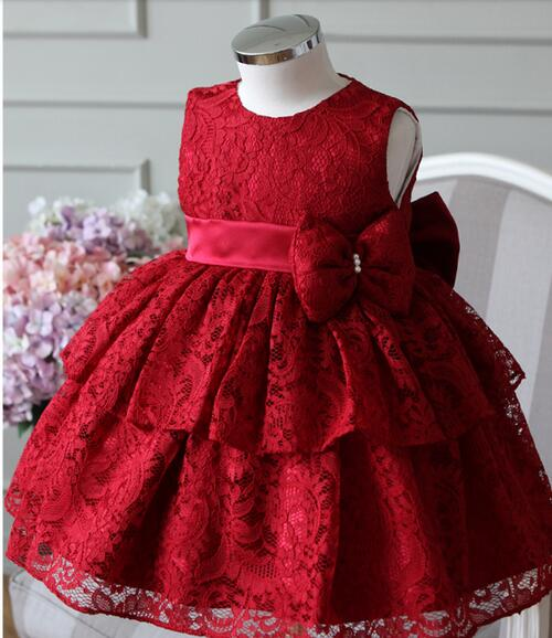 2a924c809caf 2017 New Baby Girl Dress 6 24M Bow Ball Gown 1 Years Baby Girls ...