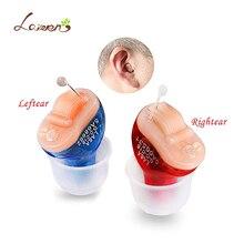 2 шт. (1 пара) портативный CIC цифровой Невидимый слуховых уха усилитель звука в ухо тон объем Регулируемые слуховые аппараты