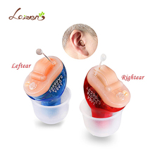 2pcs(1pair) Portable CIC Digital Invisible Hearing Aid Ear Sound Amplifier In The Ear Tone Volume Adjustable Hearing Aids