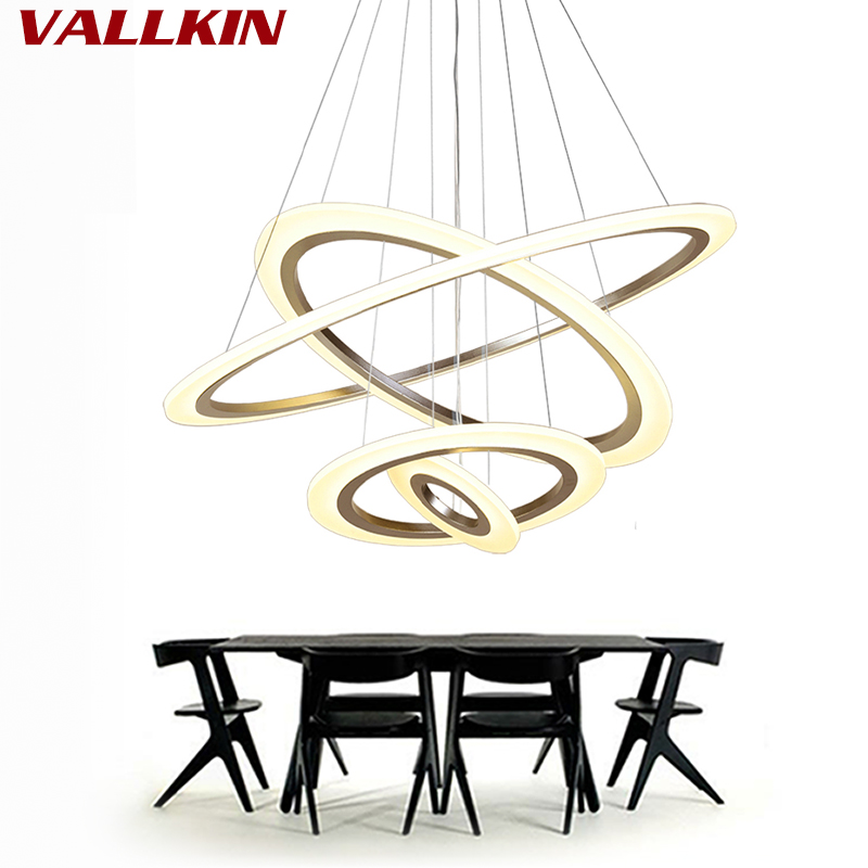 Luxury Modern Chandelier Led Circle Ring Chandelier Light: Luxury Modern Chandelier LED Circle Ring Chandeliers Light