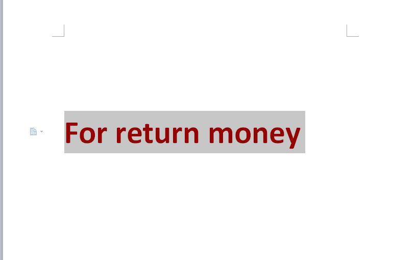 Spezielle Link Rückkehr Geld Link Danke Jade Weiß
