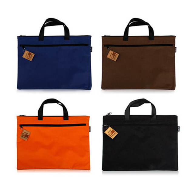 A4 Double Zipper Doent Bag Fabric Briefcase File Folder With Handle Organizer For Office Supplies
