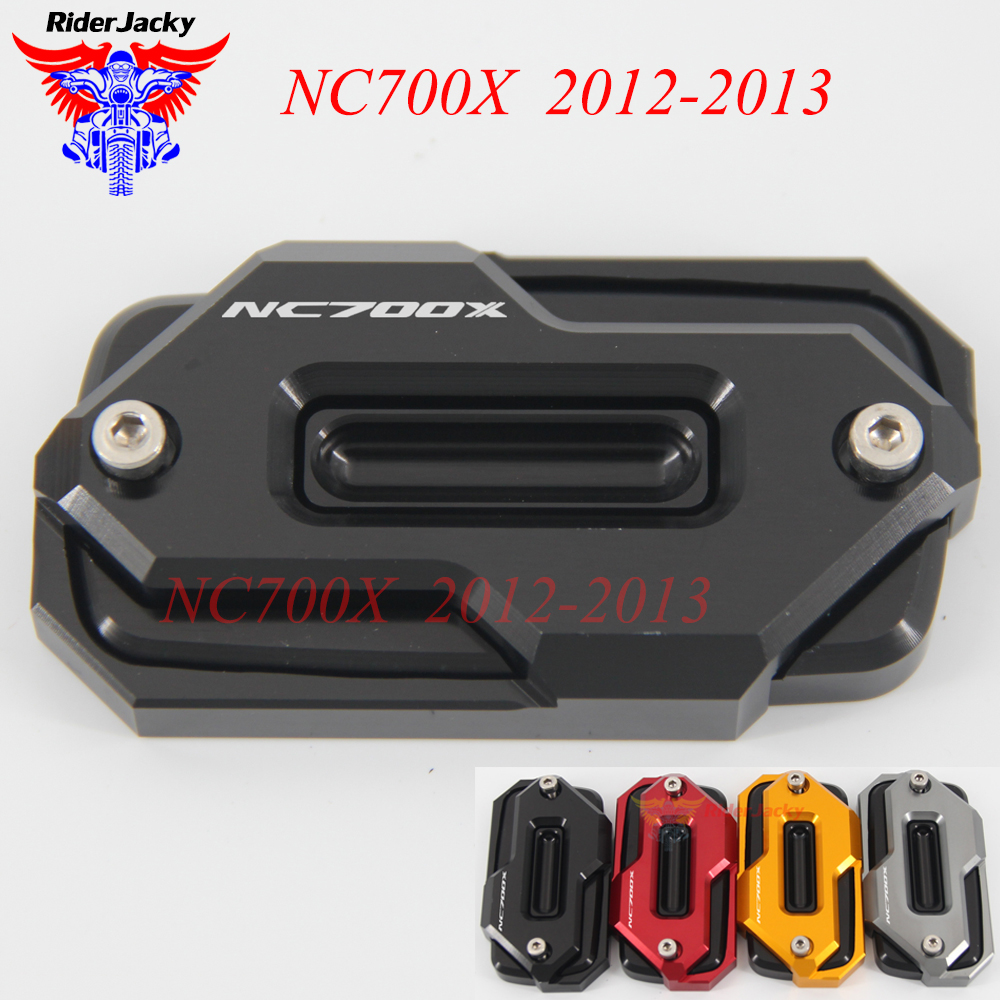 Red Black For HONDA NC700X NC 700X NC 700 X 2012-2013 Motorcycle Front Brake Master Cylinder Fluid Reservoir Cover Oil Cap