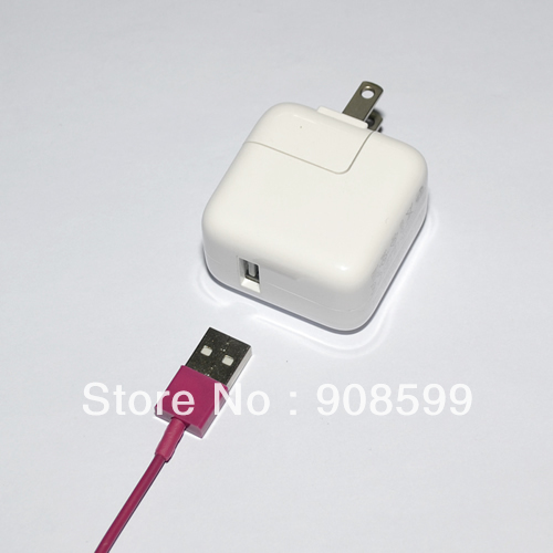 USA 2.4A 12W USB Power Adapter Charger for iPad 2 3 4 iPad Mini,HK SG Post 1pcs Free Shipping