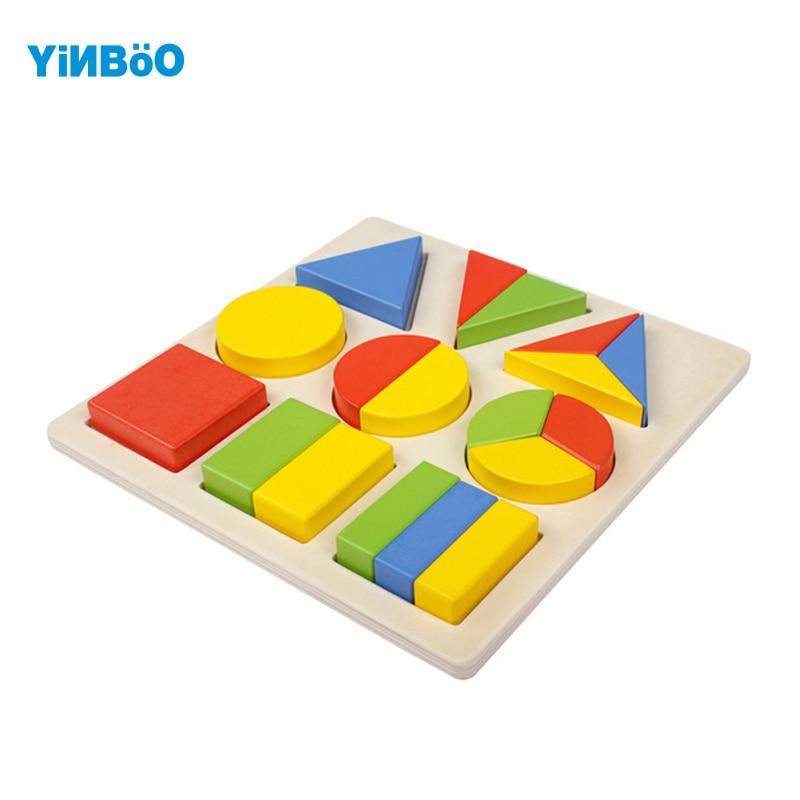 Детские игрушки, деревянные головоломки модели и строительство игрушки для детей Монтессори образования формы изделие для подарок для реб...