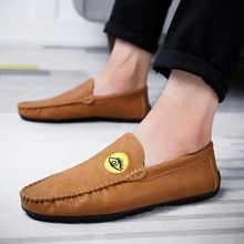 Soft Leather Men Loafers New Handmade Casual Shoes Moccasins For Flat fashion  5