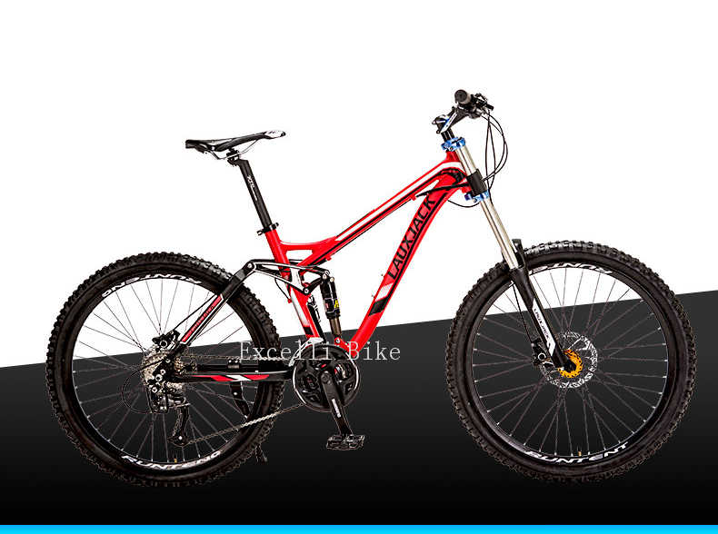 """Excelli велосипед 26 """"* 17"""" горный велосипед 27 скоростей полный подвесной горный велосипед Алюминиевый сплав горные велосипеды горный велосипед"""