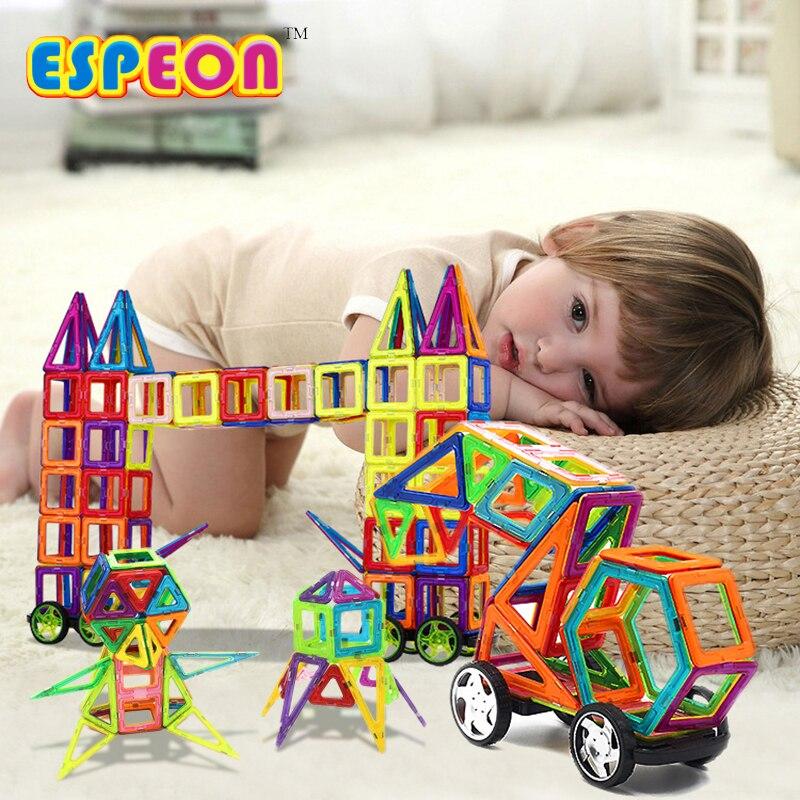 2017 Espeon 34Pcs Magnetic Designer Normal Size Building Blocks Bricks 3D DIY Models Education Toys For Children можно подарить ребенку на 4 года