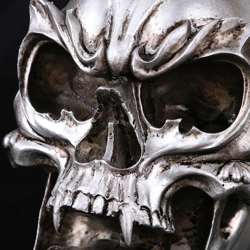 BUF Resin Craft Home Decoration Accessories Halloween Decoration Skull Statues Creative Decoracion Hogar Skull Statue Sculpture in Statues Sculptures from Home Garden