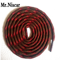 Mr Niscar 1 Pair Round Shoe Laces Gray Purple Non Slip Outdoor Sports Hiking Sneaker Shoelaces