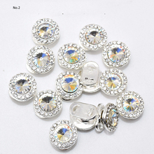 2019 Diamonds For Nails 1pcs Green/Red/Crystal Nail Art Alloy Round Rotatable 3d Charms Diamond H58
