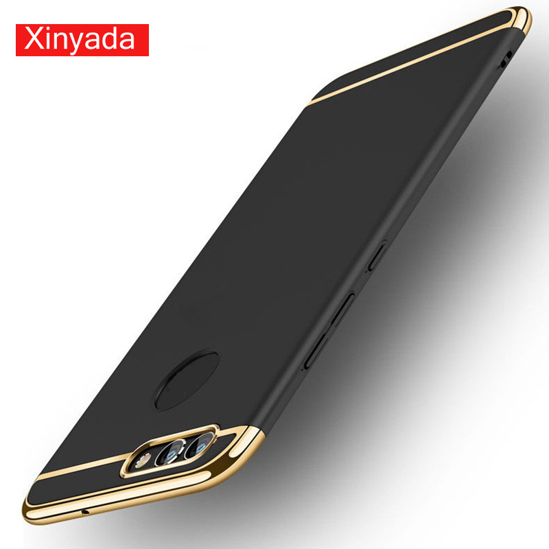 Xinyada Full Protection Luxury Plastic PC Back Case For Huawei Nova2 Nova 2 Plus Matte Cases Cover 3in1 Plating Shockproof