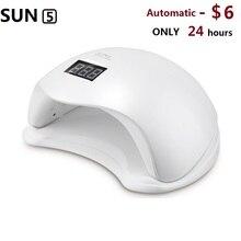 SUN5 48 Вт ЖК-Сушилка для ногтей УФ-Led професси ногтей лампы макияж ноготь ногти гель отверждения Маникюр машина ногтей инструменты