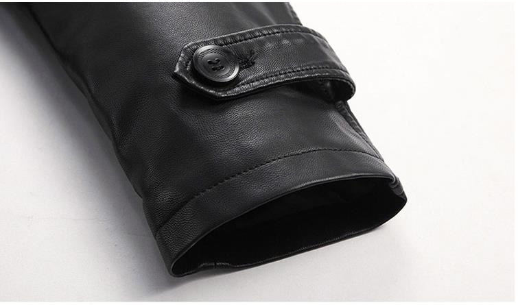 HTB1o lelGw3KVjSZFwq6zQ2FXaG Batmo 2019 new arrival autumn&winter real Leather thicked trench coat men,Leather jacket men,plus-size S-5XL