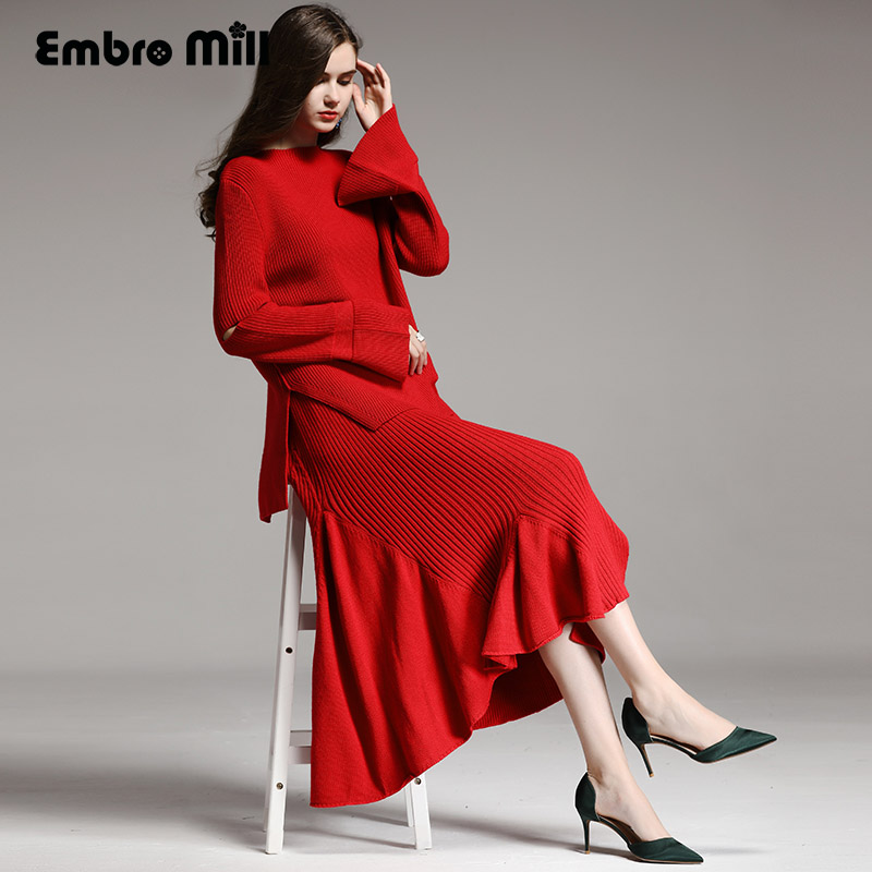 Skirt Skirt Royal Pièces xxl blanc Rouge Coat Tricot Lady Ensemble Jupe Femmes Costume Femelle M Red Skirt Flare Lâche Manches Top black 2 Laine white red En noir Coat black white Élégant Pull Coat aXp1qwa54