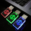 Crystal glass LED Light NISSAN Car Logo usb flash drive memory pen drive stick 32GB/16GB/8GB/4GB USB Flash Pen Drive Memory