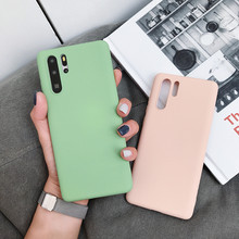 Candy Color Soft TPU Silicone Phone Case For Huawei P30 Lite P20 Mate20 Mate 10 Nova 3 3i 4 Y9 2019 Y5 Y6 Y7 Pro Honor 8X Cover(China)