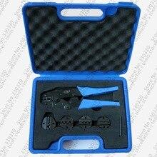 Набор обжимных инструментов с 4 сменными штампами LS03C-5D3, набор обжимных инструментов