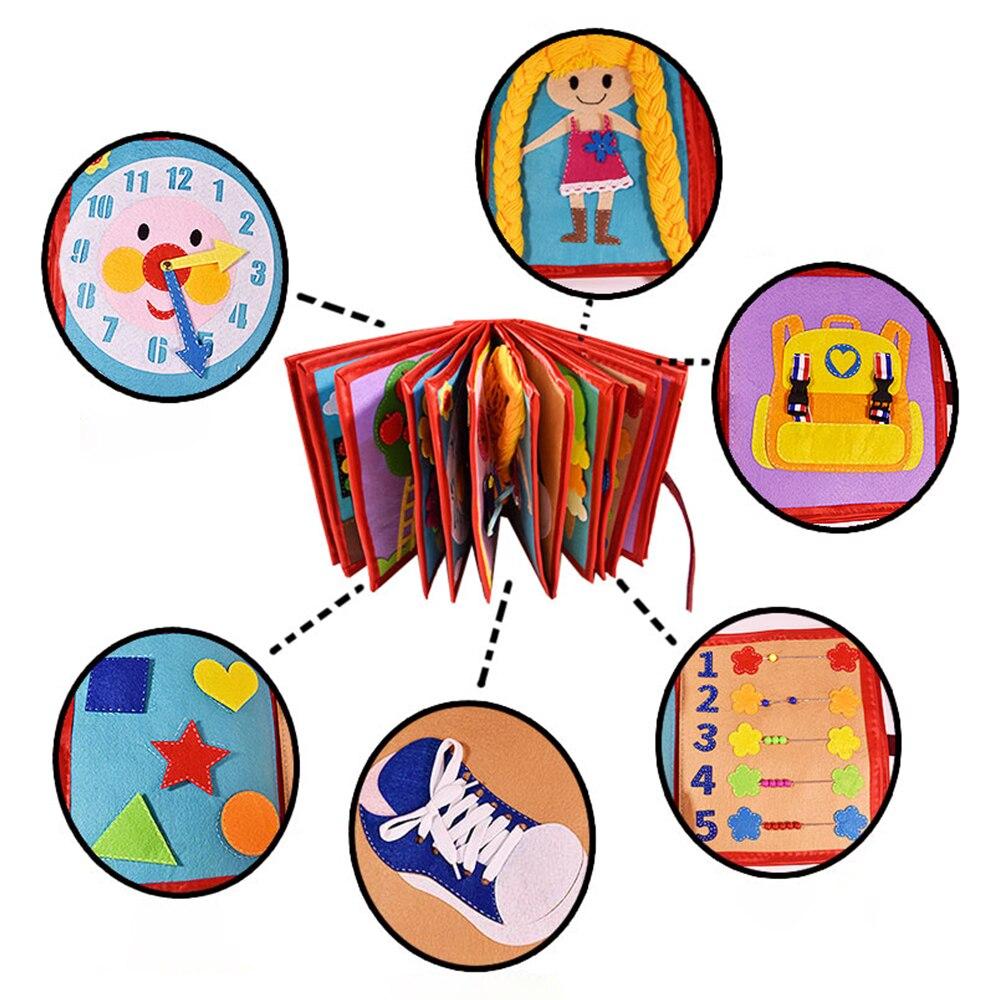 Bebé dibujos animados educación tela libro no tejido hecho a mano pintura Animal libro material de embalaje DIY niño cuento de hadas libro de tela - 6