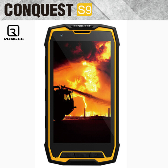 100% original Conquest S9 Waterproof phone IP68 shockproof IP67 6000 battery Octa core 13mp 2gb ram NFC GLONASS 4G Lte phone