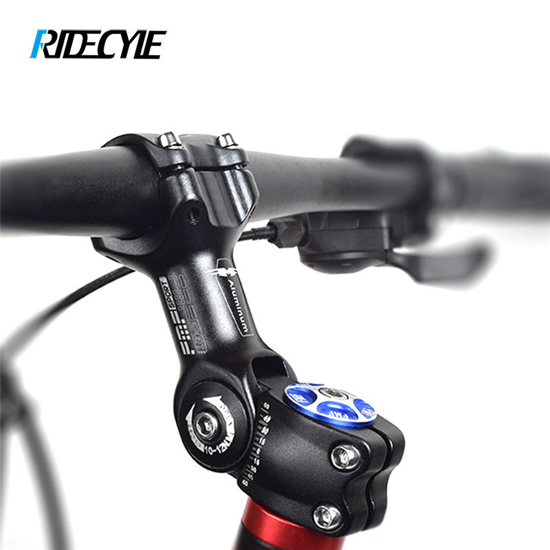 25.4//31.8mm Mountain Road Bike Adjustable Rise Up Handlebar Stem Riser Black