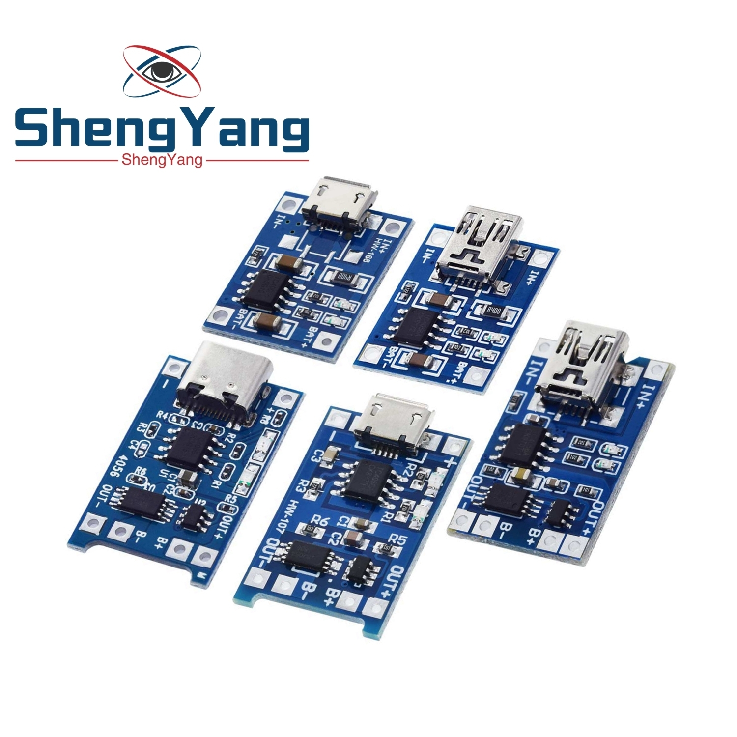 5V 1A 18650 TP4056 Lithium Battery Charger Module Charging Board With Protection Dual Functions 1A Li-ion