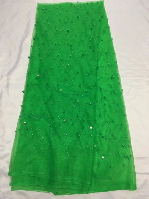 Royal Green Color Nigerian Wedding African Lace Fabric For Dresses French With