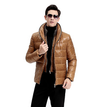 New Men Parkas Fashion Winter Classic Solid Color Short Coat Slim Fit Cotton Padded Outerwear Male Hooded Jacket