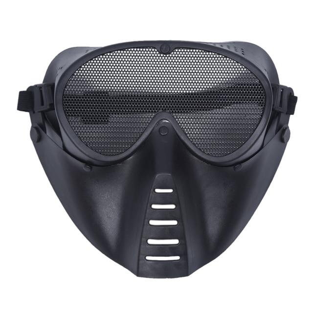 Tactical Airsoft Maske Helm Hälfte Niedrigeren Gesicht Metall Stahl ...