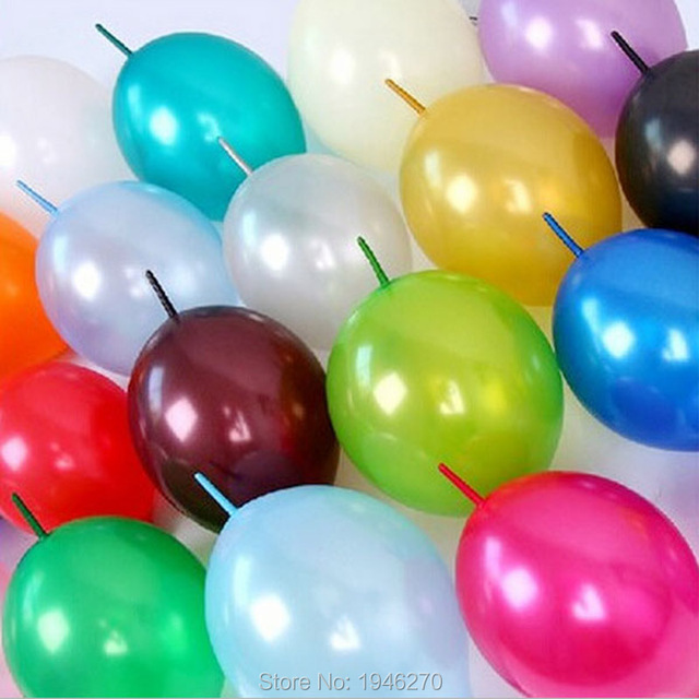 12inch Link Balloons Wedding Decorations Size Tail Balloon Home Garden Event Party