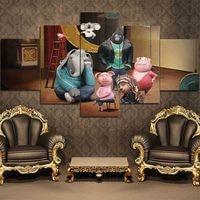 ArtPangoo Orangutan Elephant Pig Picture Animation Canvas Printings Unframed Figure Painting Decoration Home Wall Art