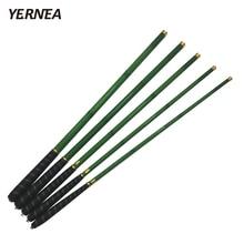 Yernea Carbon Fiber Fishing Pole Ultra-light Carp Rod Green Telescopic Fishing Rod 3.6M 4.5M 5.4M 6.3M 7.2M Rod Fishing Spinning fly fishing combo 5wt 9ft carbon fiber fly rod