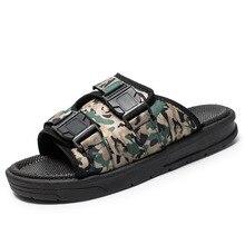 Summer Shoes Men Beach Sandals Lightweight Soft Slippers Camouflage Flip-flops Male Outdoor Anti-slip Zapatillas Sandalias men trendy soft anti slip flip flops slippers