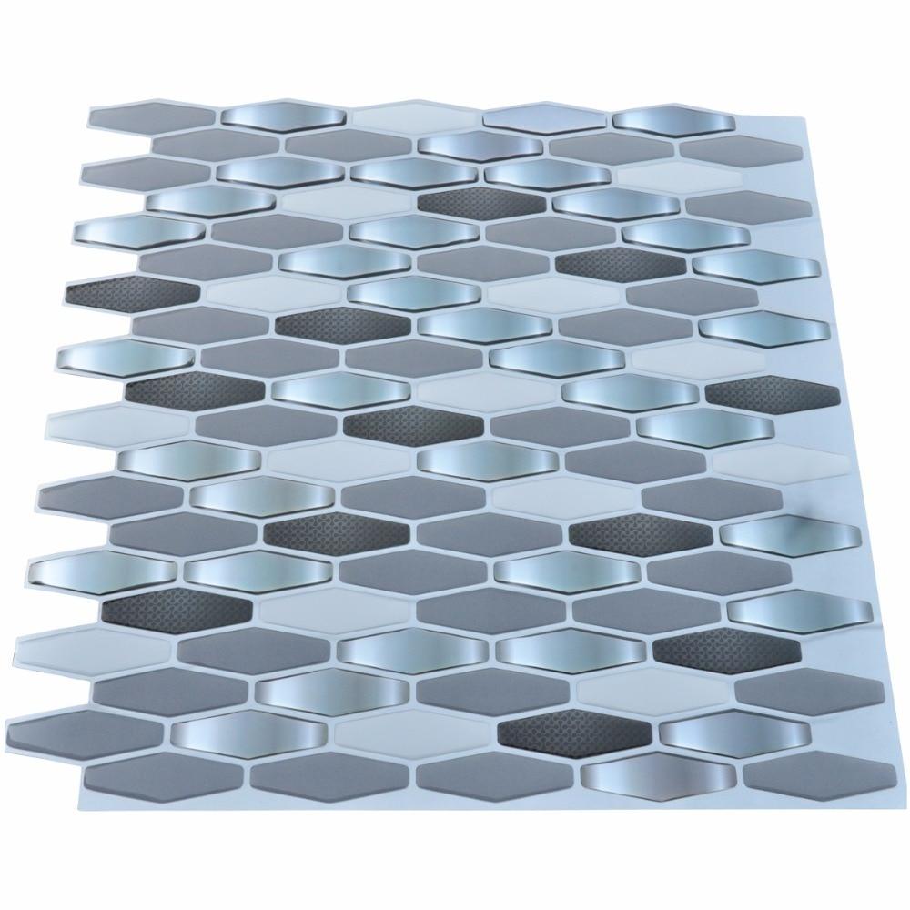 Aliexpress.com : Buy Peel and Stick Kitchen Backsplash Wall Tiles ...