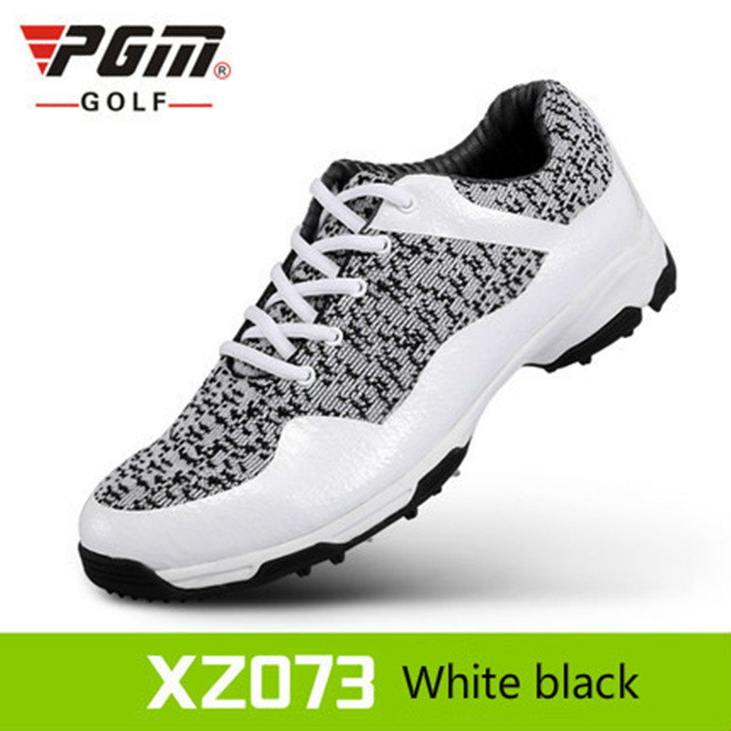 PGM Men Golf Shoes Light Weight Breathable Athletic Shoes Outdoor Waterproof Anti Skid Sport Shoes Size