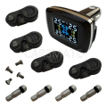 New Car TPMS With 4 Internal sensors Real Time Monitor & Support  Bar & Psi With colorful LCD Display
