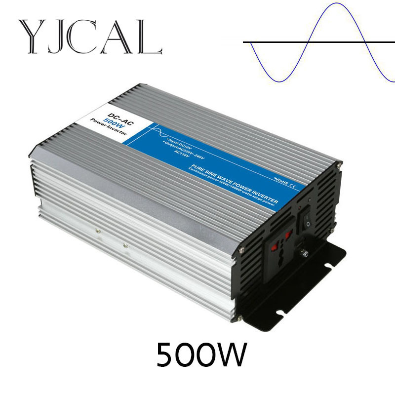 Pure Sine Wave Inverter 500W Watt DC 12V To AC 220V Home Power Converter Frequency USB Converter Electric Power Supply