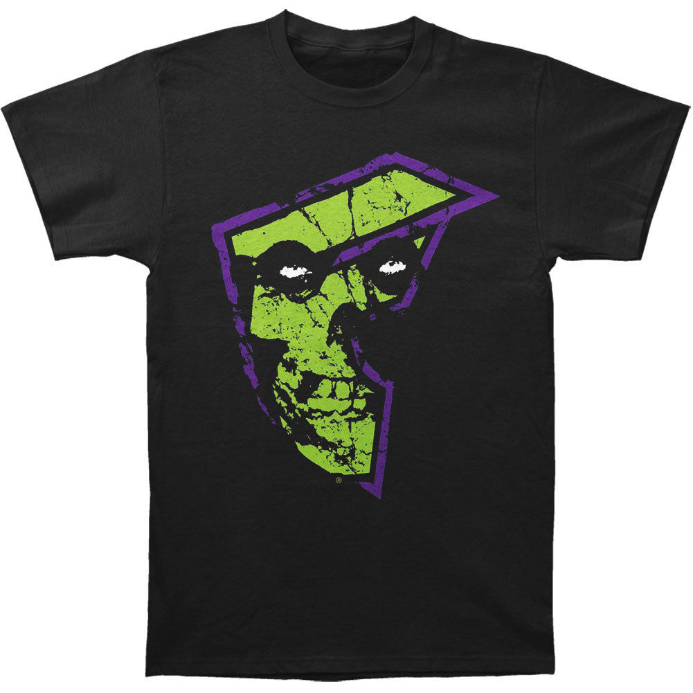 Misfits Mens AD T-shirt Black Pure Cotton Round Collar Men top tee ...