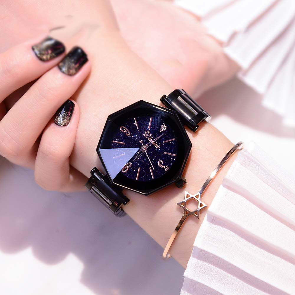 Watches Clock Ladies Stainless-Steel Female Fashion Women Luxury Causal Super-Beauty
