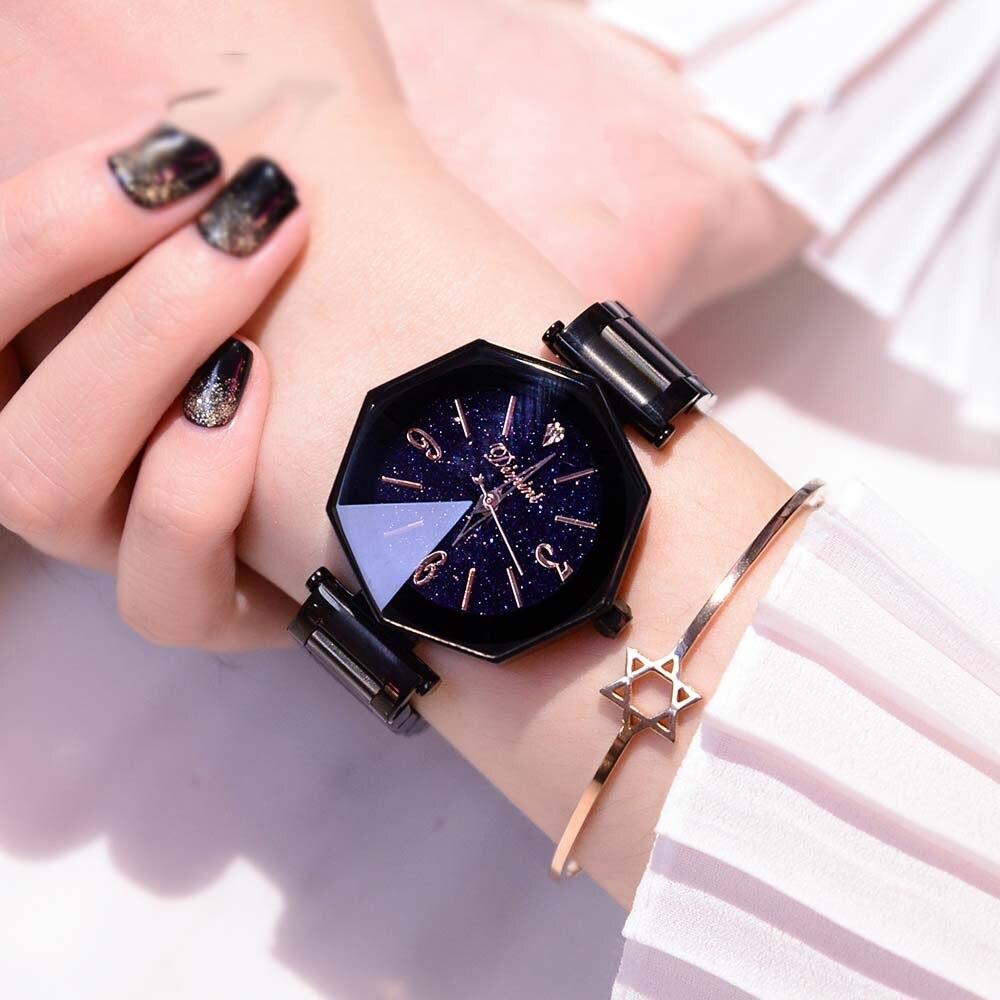 2018 супер красота для женщин часы модная женская одежда часы для женщин Роскошные повседневные часы женские Нержавеющая сталь наручны...