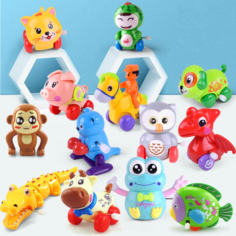 1 Piece Aircraft Clockwork Cute Cartoon Animals Wind Up Toys For Children Dog Shape Car Model Toy Baby Filed Gift For Kids
